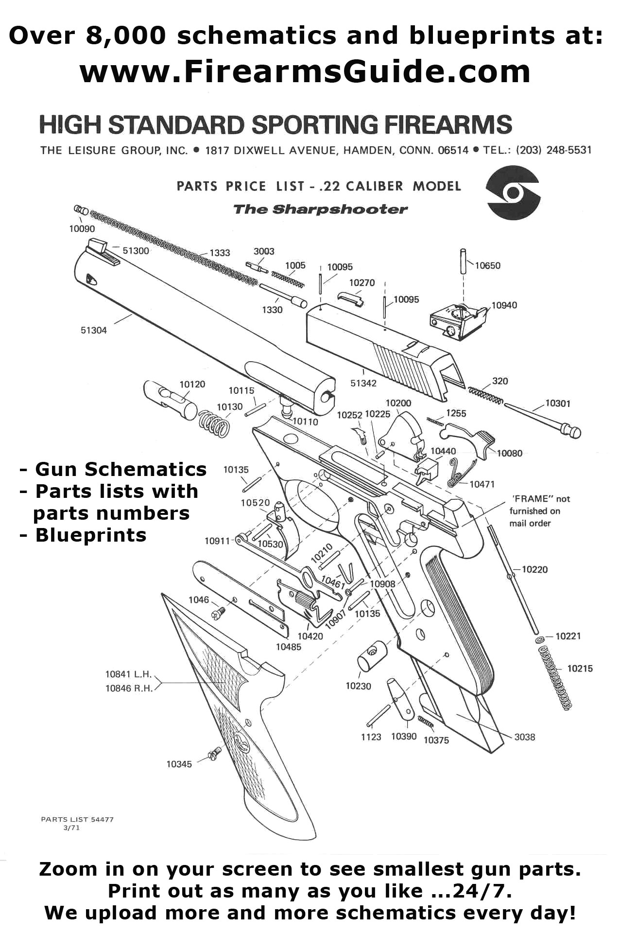 over 15,000 printable gun schematics (diagrams) and blueprints for ...  firearms guide
